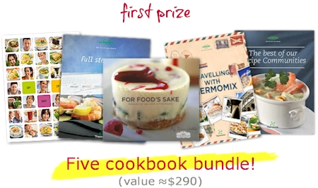 Five free thermomix cookbooks prize