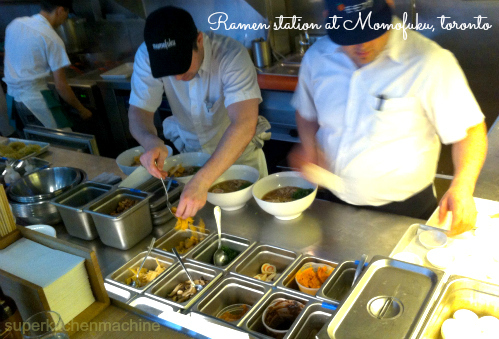 Ramen station at Momofuku noodle bar toronto