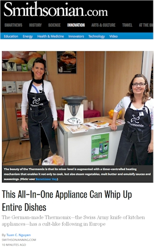 Thermomix in USA Smithsonian article