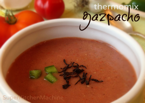 gazpacho with smoked tea flavor infusion