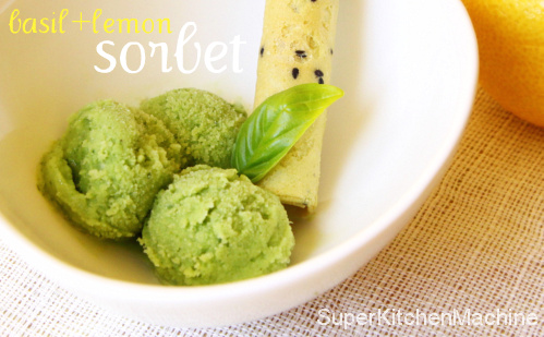 Thermomix Sorbet Recipe: fresh and refreshing basil and lemon
